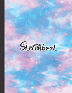 Sketchbook: Premium White Paper For Sketching, Painting, Drawing, Coloring, Or Doodling | Large Size (110 Pages) | Perfect...