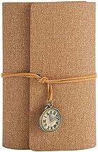 Anteckningsbok CYSJ retro anteckningsbok A6 löst blad anteckningsbok vintage klocka mönster dagbok påfyllningsbar anteckni...