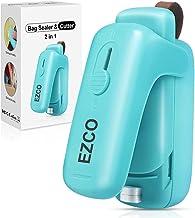 EZCO Bag Sealer Mini, Handheld Bag Heat Vacuum Sealer, 2 in 1 Heat Sealer & Cutter Portable Bag Resealer Machine Food Save...