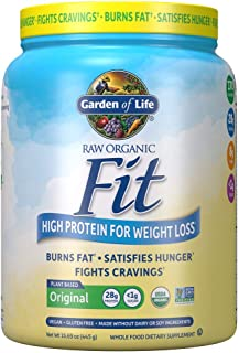 Garden of Life Raw Organic Fit Powder, Original - High Protein for Weight Loss (28g) plus Fiber, Probiotics & Svetol, Orga...