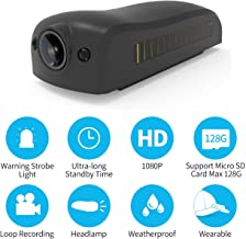 ALYDUOW Action Camera Sport DV Hat Brim Camera Mini Headlamp 1080P HD Sport DV Outdoor Camcorder Wide Angle Lens Clip On Cap