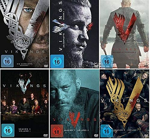 Vikings Staffel 1-5.1 (1+2+3+4.1+4.2+5.1, 1 bis 5.1) [DVD Set]