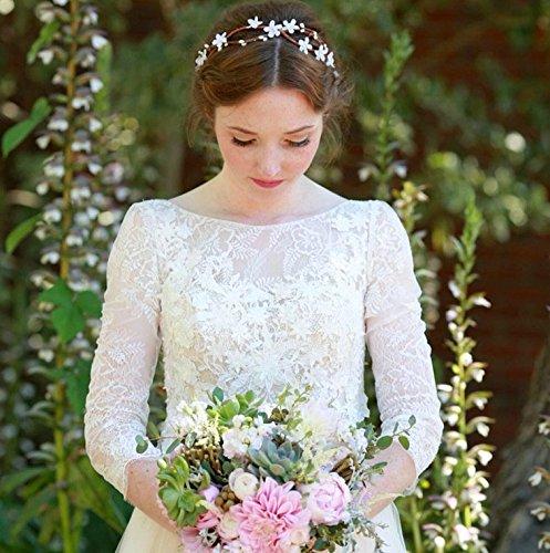Amazon Com Flower Crown Wedding Flower Headband Wedding Accessories Bridal Flower Bridal Headband Bridal Crown Headpiece Tiara Whimsical Wedding By Deloop Handmade