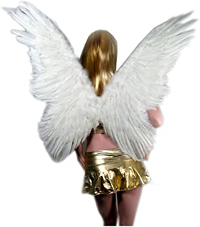 (TM Super Large Feather Butterfly Fairy Angel Wings 2 Color Black or White