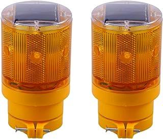 OSALADI Solar Traffic Light Flashing Barricade Emergency Strobe Warning Light Wireless Safety Road Construction Beacon Lam...