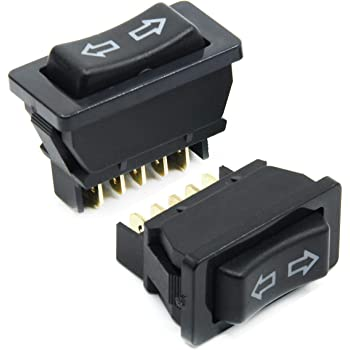 Universal 10 Terminals Black Electric Power Dual Window Lifter Switch for Car