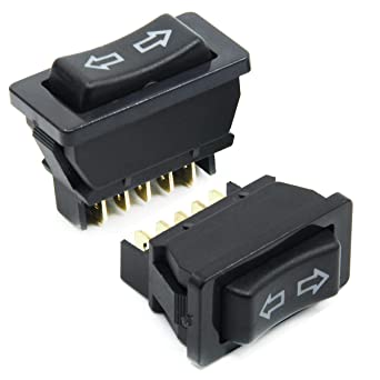 Auto Car DPDT 5 Pins Power Window Switch Momentary Black Universal DC 12V