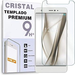 comprar comparacion REY Protector de Pantalla para BQ AQUARIS X/BQ AQUARIS X Pro, Cristal Vidrio Templado Premium