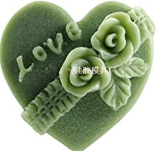 GreatMold Valentine Heart Shaped Rose Flower Soap Molds Silicone Mold for Soap Lotion Bar Bath Bomb Candle Chocolate Cake Decoration Crafts Molds