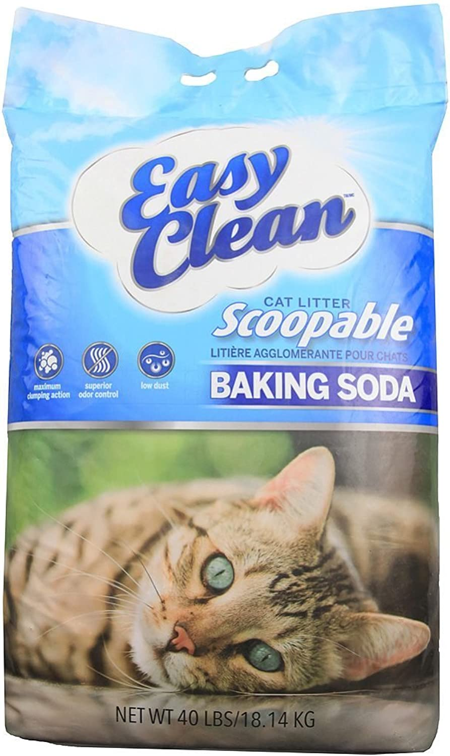 Pestell Pet Products Easy Clean Scoopable Litter with Baking Soda, 40Pound Bag