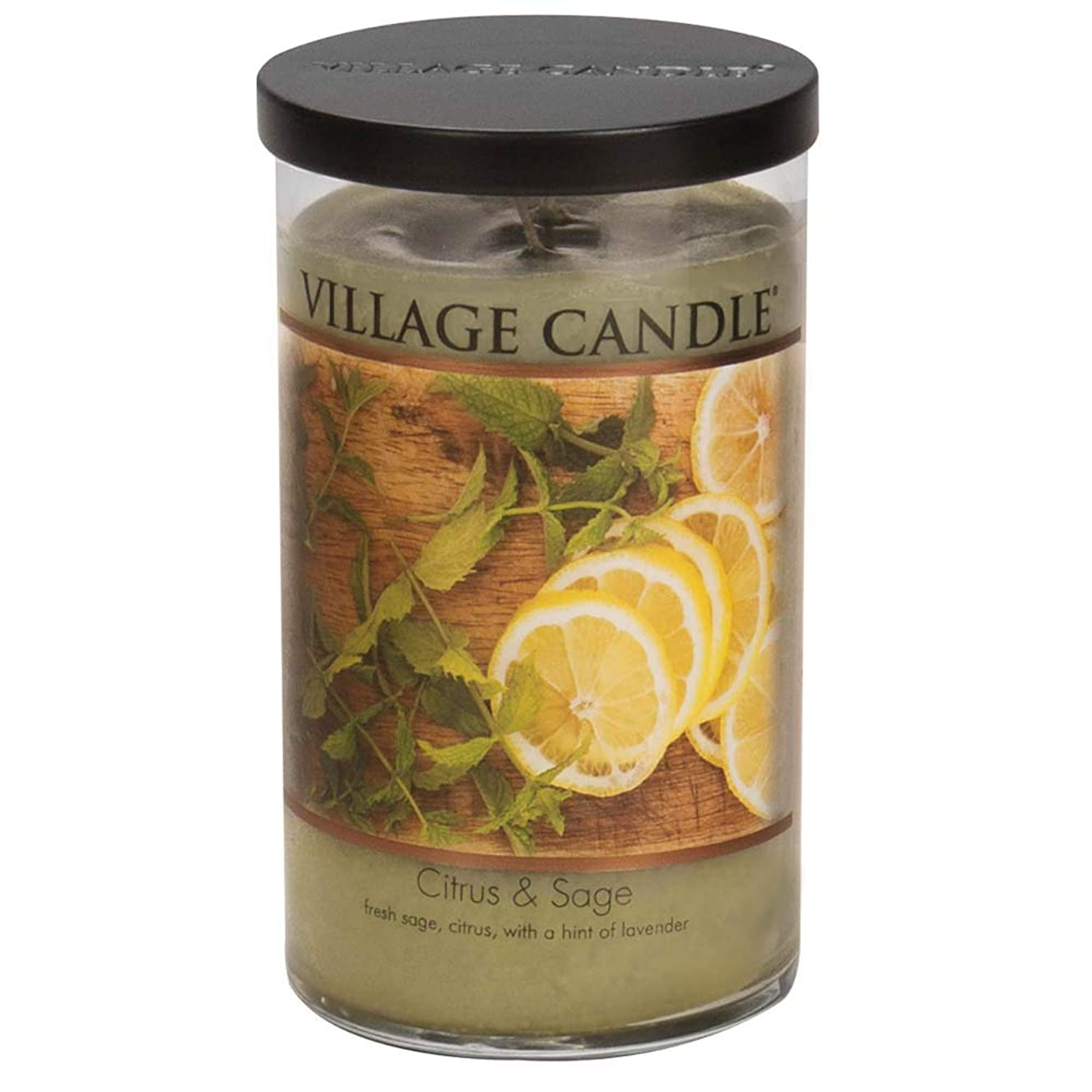 石化する感謝アフリカVillage Candle Citrus & Sage 24?Oz LargeタンブラーScented Candle