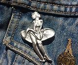 Broche de peltre con solapa de Marilyn Monroe para el Reino Unido