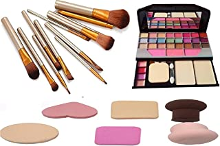 BTN Professional Makeup Kit with TYA 6155 with Naked plus face makeup brush 12 pcs set different type/size with safety box...