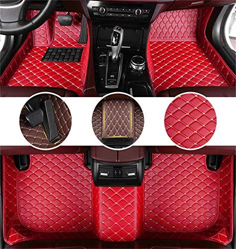 Muchkey Auto Tapetes de Piso Alfombra para Skoda Octavia A5 2007-2013 de Cuero Interior Automotriz Alfombrillas Rojo