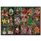Larcele Navidad 1000 Piezas Puzzle para Adultos Regalo de Juego de Rompecabezas
