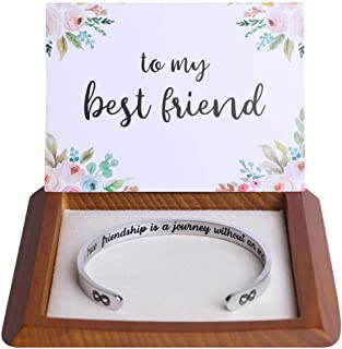 Hidden Message Bracelet - Great Best Friend Gifts, Friendship Jewelry, Come with Gift Box & Cute Card, Perfect Gifts for Birthday, Holiday, More