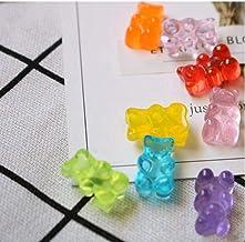 Figurines Miniatures Accueil Décor Flatback Alimentaire Bricolage Résine Sucre Dollhouse Mignon Design Ours 20pcs Bonbons ...