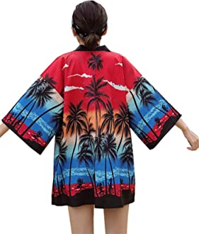 DOVWOER Damen Kimono Cardigan Strand Bikini Cover Up 3//4 Arm Lose Casual Leichte Jacke Einige Produkte Lieferung dauert 5-10 Tag Per DHL