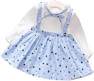 56fc3a8809a40 Guyay Toddler Baby Girl One-Piece Dresses Polka Dot Long Sleeve Ruffle Dress  Princess Party