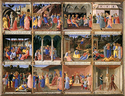 """Fra Angelico Scenes from The Life of Christ 1452 Museo di San Marco - Florence 30"""" x 23"""" Fine Art Giclee Canvas Print (Unframed) Reproduction"""