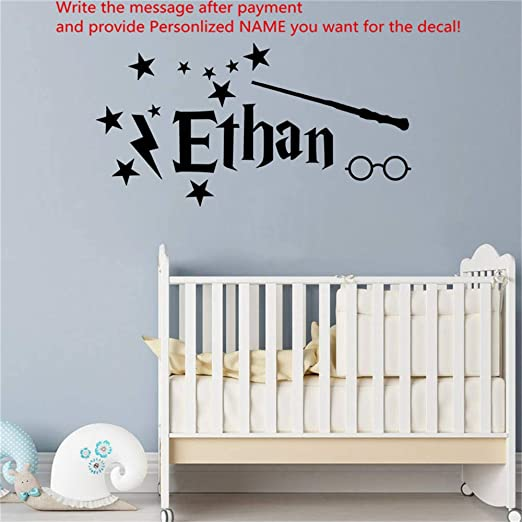Harry Potter PERSONALIZED NAME Decal WALL STICKER Home Decor Art Mural WP156