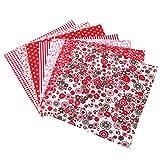 Artibetter 6 Stücke Floral Stoff Baumwolltuch Blatt