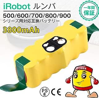 Topbatt ルンババッテリー 14.4v3800mAh irobot Roomba500 600 700 800対応 掃除機交換用バッテリー1年保証