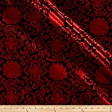 Chinese Brocade Sateen Medallion Red/Black,...