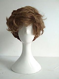 Cosplay Wig Short Brown Curly Heat Resistant Hair Wigs +Wig Cap Fantastic Beasts The Crimes of Grindelwald Newt Scamander...