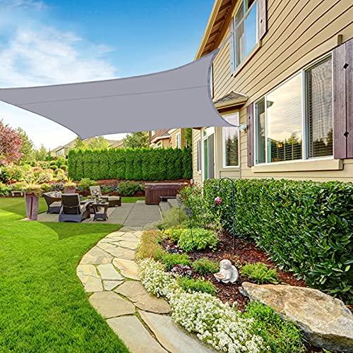 ZXBB Sonnensegel Wasserdicht, Sonnensegel Rechteckig 2 X 4 Meter Sonnensegel Inkl. Befestigungsseile Vernäht Robust Atmungsaktiv Schattensegel Gelten Garten, Balkon, Terrasse, Camping