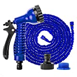 <span class='highlight'><span class='highlight'>Xinng</span></span> Garden Hose 75 Feet Spray Nozzle with 7 Functions Flexible Expandable Water Hose Durable Latex Core (Blue)