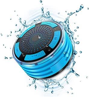 Shower Speaker, IPX7 Waterproof Portable Wireless Bluetooth Speaker with FM Radio, LED Mood Lights, Super Bass HD Sound Shower for Bathroom, Pool, Beach, Outdoor