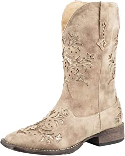 ROPER Ladies Kennedy Square Toe Brown Boots