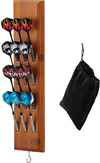 Viper by GLD Products Dart Wall Mounted Caddy Solid Wood Tip Darts Cabinet