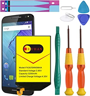 Moto X Pure Battery, Euhan 3200mAh Rechargeable Li-Polymer Battery FX30 SNN5964A Replacement for Motorola Moto X Pure Edition XT1572 XT1575 Style+Repair Replacement Kit Tools