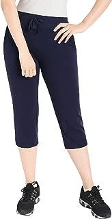 Latuza Women's Cotton Joggers Knit Capri Pants with Pockets