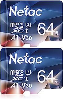 Netac 64GB 2 Pack Micro SD Card, Memory Card SDXC up to100MB/s, A1, 667X, U3, C10, V30, 4K, FAT32, High Speed TF Card for ...