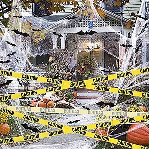 Funnlot Halloween Spider Web Halloween Cobwebs Halloween Spider Decorations Halloween Giant Spider Web with Fake Spiders Strechable Spider Cobweb Halloween Decorations Outdoor Cobweb