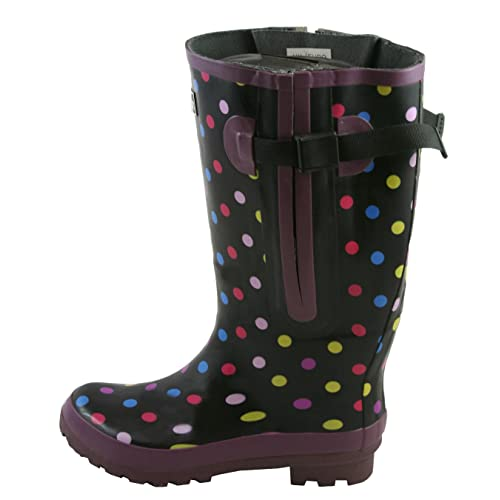 e9577de185a Jileon Extra Wide Calf Rubber Rain Boots for Women-Widest Fit Boots in The  US
