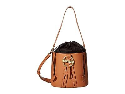 LOVE Moschino Bucket Bag (Camel) Handbags