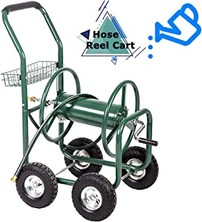 FDW Garden Hose Reel Cart Tools Outdoor Yard Water Truck Heavy DutyWater Planting, Green