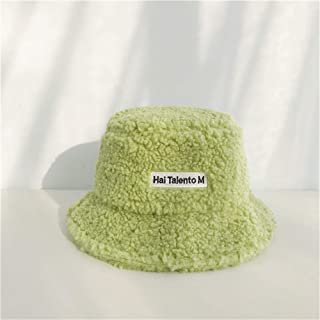 SHENTIANWEI Korean Version of The Fall and Winter Wool hat hat Female Japanese Wild Retro Soft Sister Student Letters Warm pots hat (Color : Green, Size : One Size)