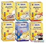 Bebivita Brei Mix 6: Milchbreie Grieß, Frucht, Keks, Kakao, Erdbeer-Himb u Keks-Banane je 500g