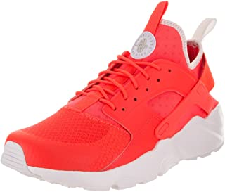 Mens Air Huarache Run Ultra Fabric Low Top Lace Up Running, Red, Size 10.0
