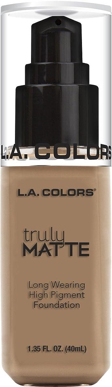 遷移押す水L.A. COLORS Truly Matte Foundation - Cool Beige (並行輸入品)