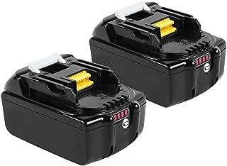 Reoben 6000mAh Replace for Makita 18V Battery BL1860B BL1850B BL1830B BL1815B - 2 Packeplacement for Makita 18V Battery