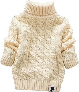 MODNTOGA Baby Boys Girls Turtleneck Sweaters Long Sleeves High Collar Twist Soft Children's Keep Warm