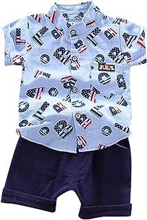 sunnymi Baby Kinder Kleidung sunnymi Bekleidungssets für Baby Jungen,1-4 Jahre Kleinkind Baby Jungen Kleidung Set Sanfte T-Shirt Tops  Shorts Sommer Outfits