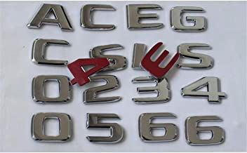 Chrome Letters Trunk Lid Badges Emblems Emblem for Mercedes Benz V Class W447 MPV V200 V220 V250 V250d V250L V260 V260L 4MATIC (V 250L)