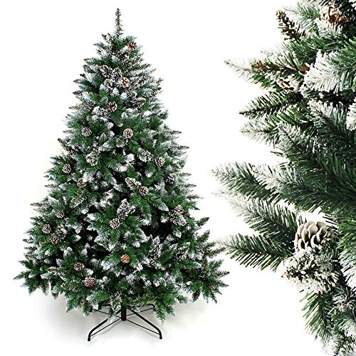Homde Artificial Christmas Tree with Flocked Snow...
